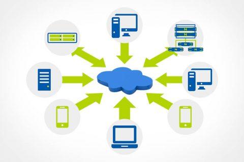 Infográfico representando o conceito de virtualização